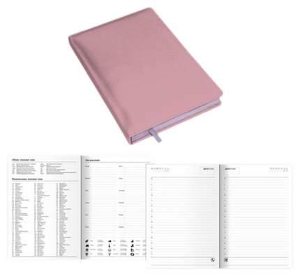 Ежедневник недатированный Канц-Эксмо Amethyst А6, 272 стр, Розовый