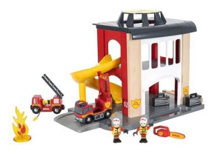 Набор железная дорога Brio Пожарное отделение 33833