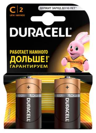 Батарейка Duracell C 2 шт