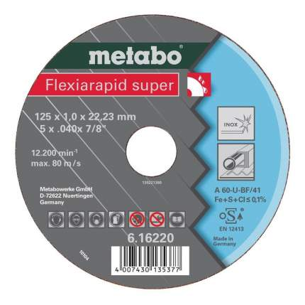 Диск отрезной абразивный по нержавеющей стали для УШМ metabo 616220000