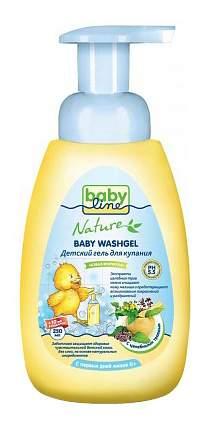 Гель для купания babyline с целебными травами для детей с первых дней жизни, 260 мл