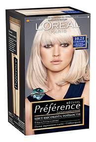 Краска для волос L'Oreal Paris Preference оттенок 10,21 Стокгольм