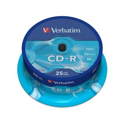 Verbatim Диски CD-R Verbatim 700Mb 52x Shrink 25шт 43726