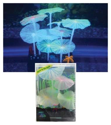 Декорация для аквариума JELLYFISH растение голубой