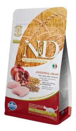 Сухой корм для кошек Farmina N&D Neutered, для стерилизованных, курица и гранат, 5кг
