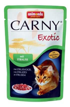 Влажный корм для кошек Animonda Carny Exotic, страус, говядина, 12шт, 85г