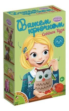 Набор для творчества Bondibon Вязание крючком Совенок Кузя (ВВ1363)