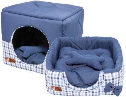 Домик для кошек и собак ЗООГУРМАН 45x45x45см синий