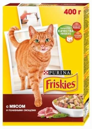 Сухой корм для кошек Friskies, с мясом, курицей и овощами, 0,4кг