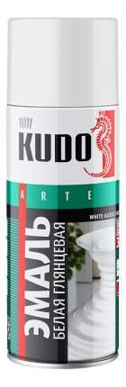 Эмаль универсальная белая глянцевая KUDO ,520 мл