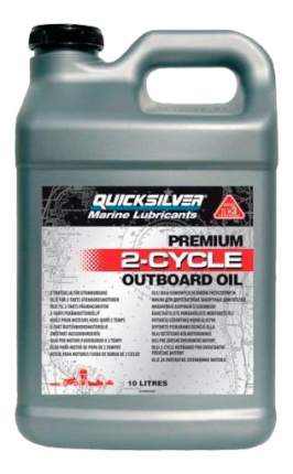 Моторное масло Quicksilver Premium 2-Cycle Outboard Oil TC-W3 5W-30 10л