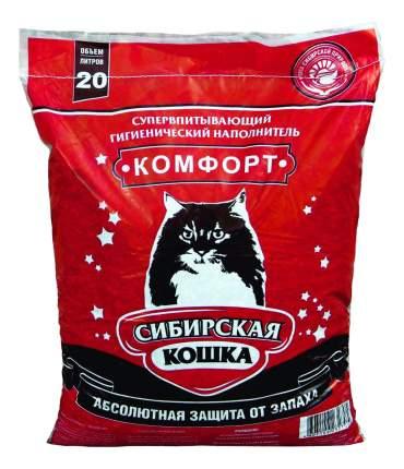 Впитывающий наполнитель для кошек Сибирская кошка Комфорт глиняный, 8.5 кг, 20 л