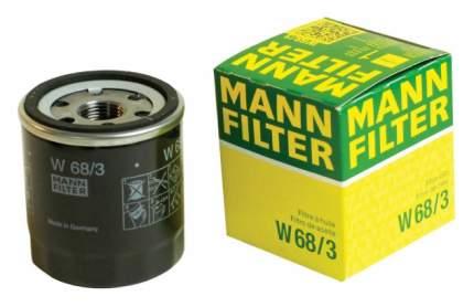Фильтр масляный двигателя MANN-FILTER W68/3