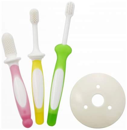 Зубная щетка Pigeon 3 уровня Набор для детей от 6 месяцев