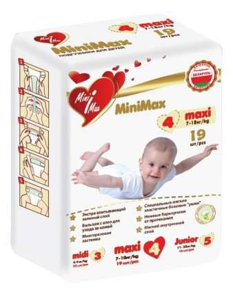 Подгузники MiniMax Maxi (7-18 кг), 19 шт.