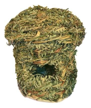 Домик для грызуна Triol стебли и травы, 15х8х8см, цвет зеленый, желтый