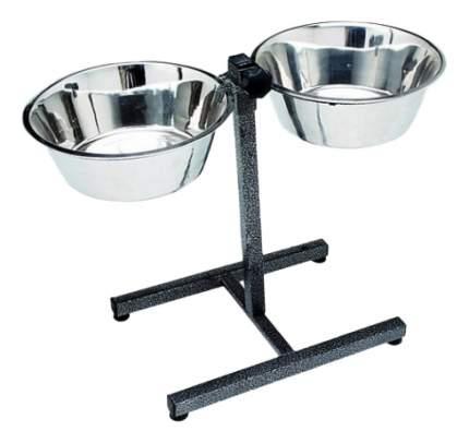 Набор мисок для собак Usond, сталь, серебристый, 2 шт по 1.8 л