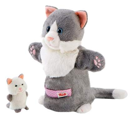 Мягкая игрушка Trudi на руку Кошка с котенком, 28 см