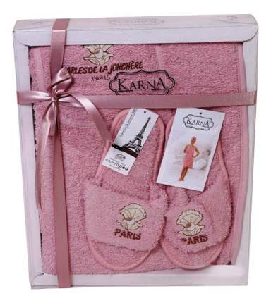 Набор для бани KARNA Paris грязно-розовый