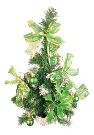 Ель искусственная Вельт декоративная с зелеными украшениями 50 см