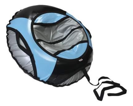 Тюбинг детский Belon Тент 100 см серо-черно-голубой