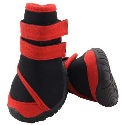 Обувь для собак Triol размер XS, 4 шт черный, красный