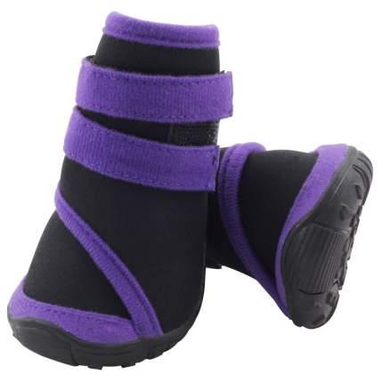 Обувь для собак Triol размер XL, 4 шт фиолетовый, черный