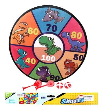 Детский дартс Динозаврики с 2 шариками и 2 дротиками Shantou Gepai 66336-8