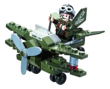 Конструктор пластиковый Brick Военный самолет с фигуркой