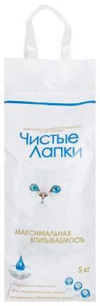 Наполнитель для кошачьего туалета Чистые Лапки, комкующийся, без запаха, 3шт по 5кг