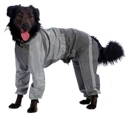 Комбинезон для собак ТУЗИК размер 4XL мужской, серый, длина спины 72 см