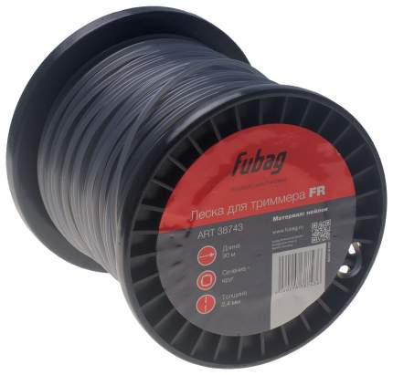 Леска для триммеров FUBAG FR сечение круглое L 90 м х 2,4 мм