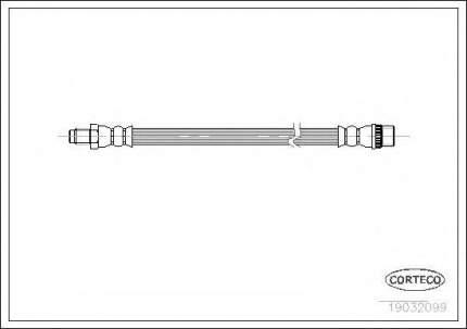 Шланг тормозной Corteco 19032099