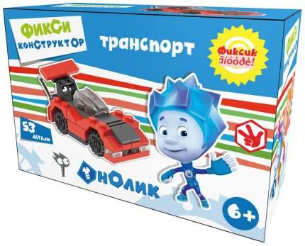 Конструктор пластиковый Город игр Фиксики Транспорт Гоночная машина М красный GI-6299