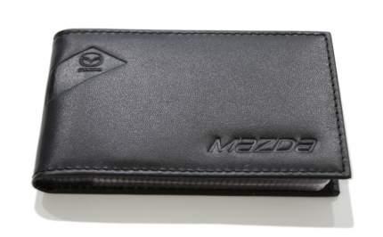 Футляр для визитных карт из гладкой кожи Mazda, Black, 830077547