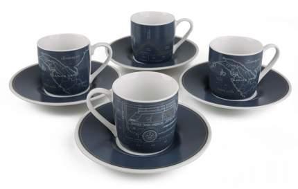 Набор из четырех чашек с блюдцами для эспрессо Land Rover, LDGF612NVA