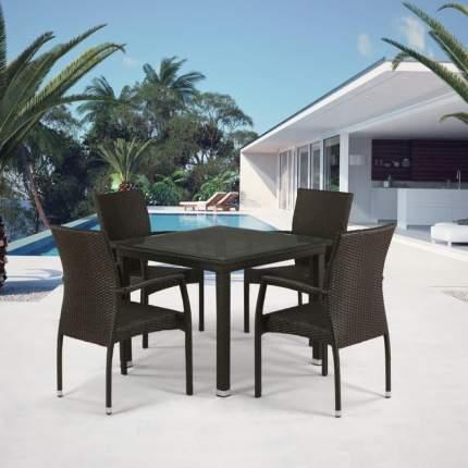 Комплект плетеной мебели T257A/Y379A-W53 Brown 4Pcs
