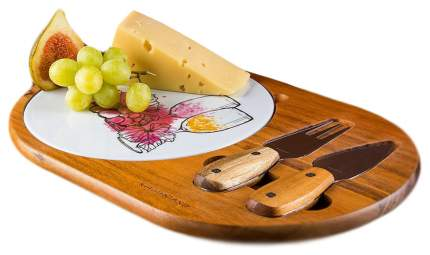 Набор для сыра Kuchenland 3 предмета на подставке, Грюйер