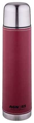 Термос AGNESS, 1 л, бордо, со съемным фильтром