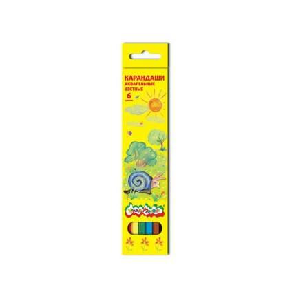 Набор цветных карандашей Каляка-Маляка 6 цв. шестигранные с заточкой акварельные 3+