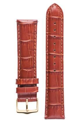 Ремешок для часов с фактурой под аллигатора Signature светло-коричневый 22 mm long