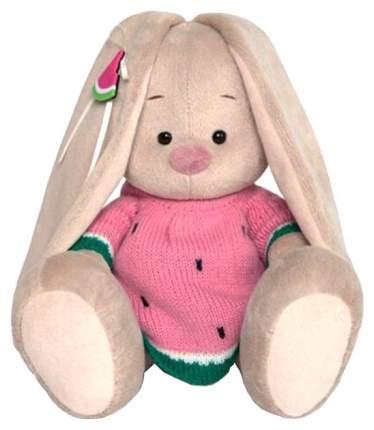 Мягкая игрушка Budi Basa Зайка Ми в вязаном платье арбузик, 18 см
