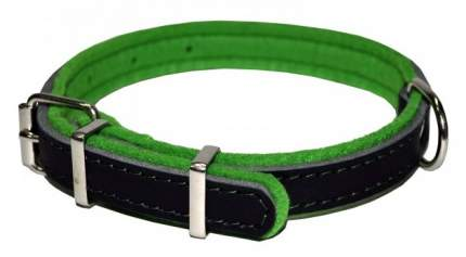 Ошейник для собак Аркон Фетр, черный, зеленый, ширина 2 см, длина 39 см
