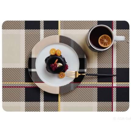 Сервировочная салфетка ASA Selection Tartan 46x33, цвет коричневый