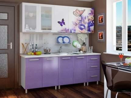 Кухонный гарнитур BTS Ирис 200 см Лиловый