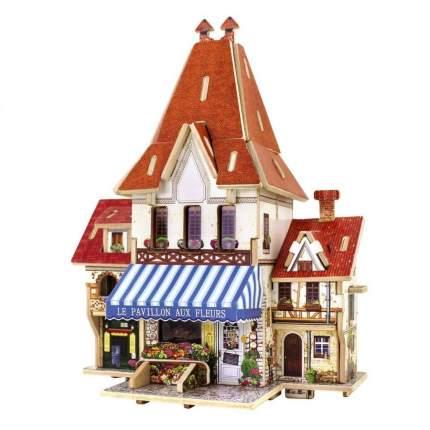 3D деревянный пазл Robotime Фрацузская серия Цветочный магазин F126