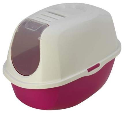 Туалет для кошек MODERNA Smart Cat, овальный, розовый, белый, 54х39х41 см