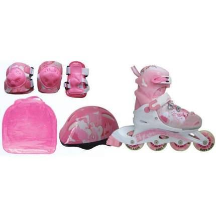 Набор: коньки роликовые, защита, шлем Action PW-999 р.34-37