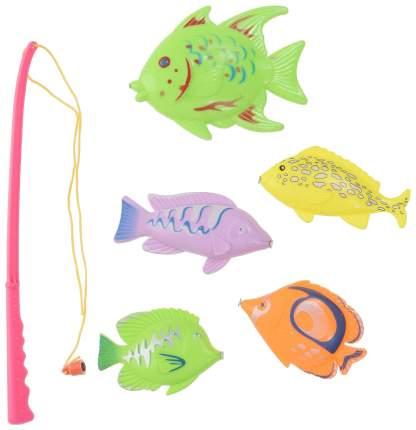 Игра пласт. рыбалка магнитная, 5 рыбок, МиниМаниЯ, 2 вида, РАС 23х15см, арт. М6167.