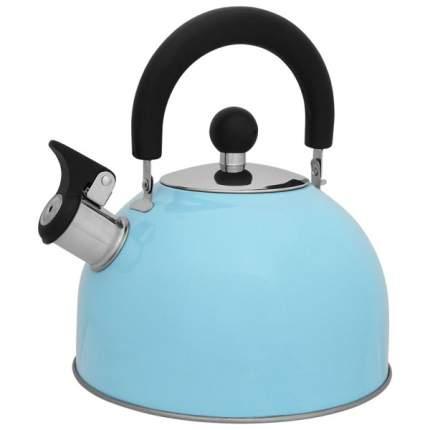 Чайник для плиты MALLONY MAL-039-A со свистком,голубой